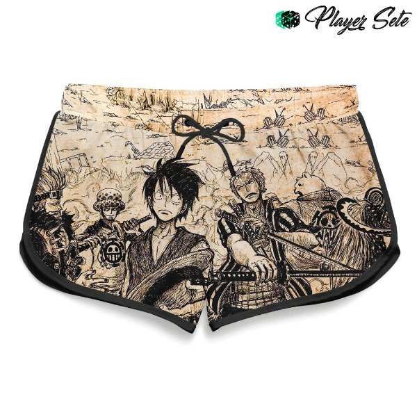 Short Feminino Anime One Piece