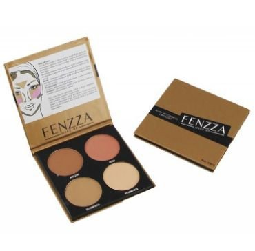 Paleta Fenzza blush pó compacto e bronzant- km10