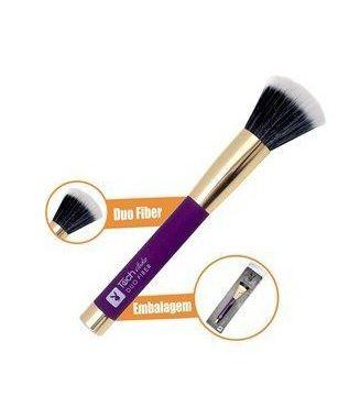 Pincel de maquiagem blush duo blush e pó touch studio Playboy - hb 86451