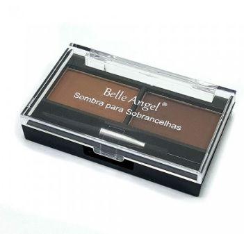 Kit de sombras para sobrancelhas com molde - Belle Angel
