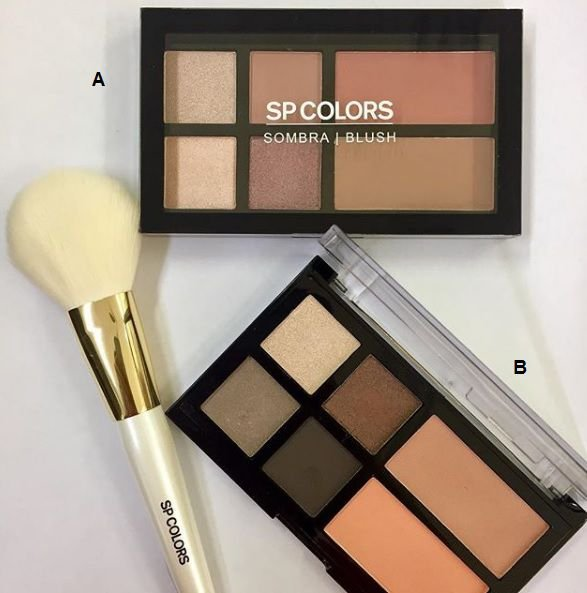 Paleta de Sombra e Blush SP Colors - cor A
