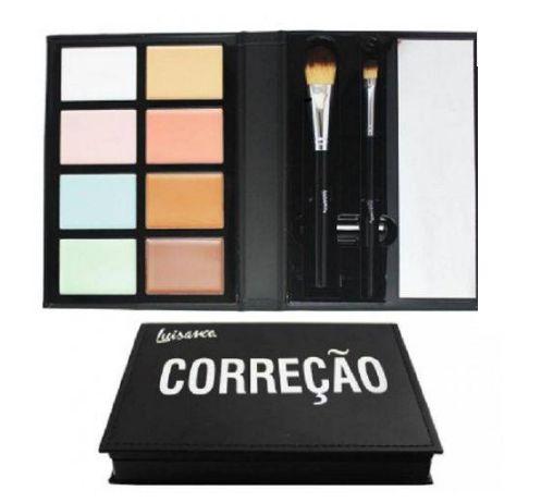 Paleta Correção Luisance 8 Cores Com Espelho E 2 Pincéis-L770