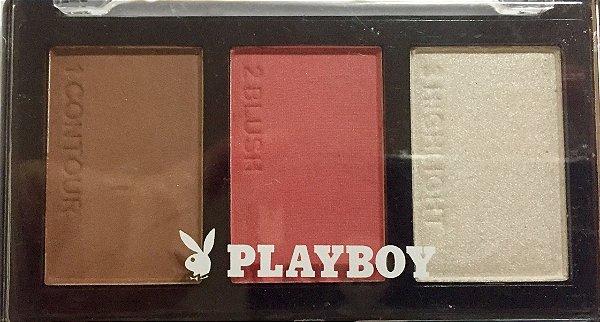 Paleta de Contorno+Blush+Iluminador Playboy - A1