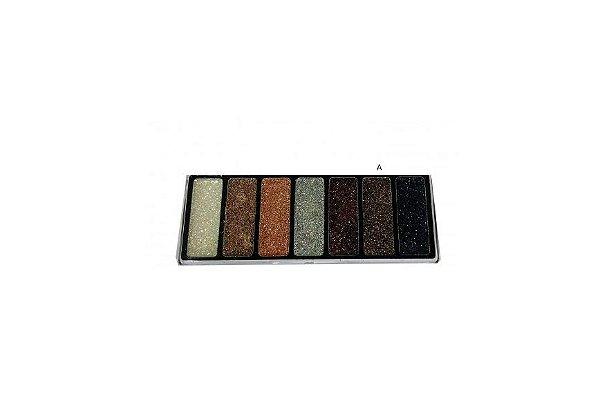 Paleta Eyeshadow Glitter 7 cores Luisance - L6035 A