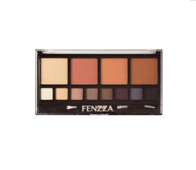 Kit Faces - Pó Compacto e Sombras Fenzza Makeup KM95