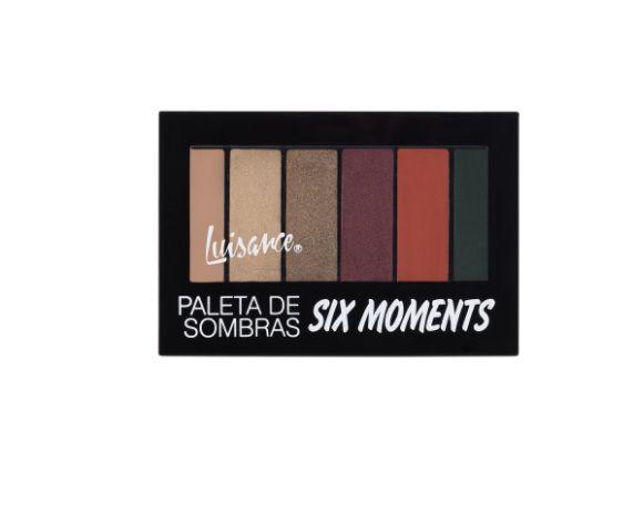 Paleta de Sombras Six Moments Luisance L6051 cor C