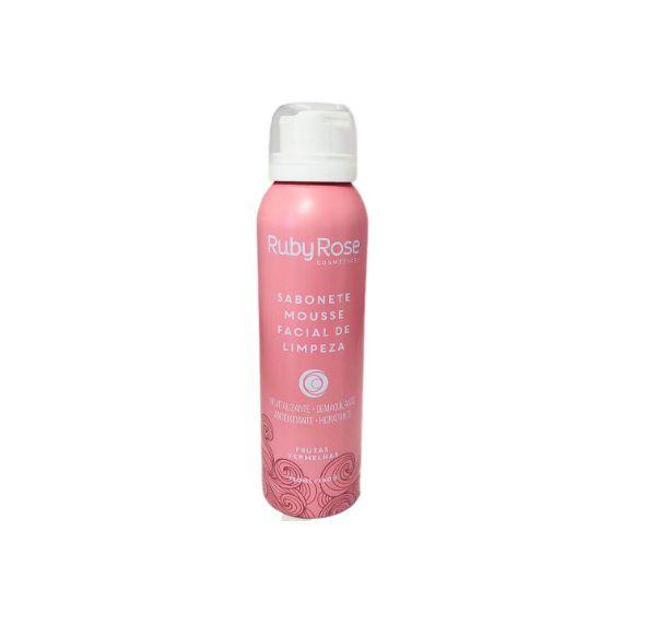 Sabonete Mousse Facial de Limpeza Frutas Vermelhas HB321 Ruby Rose