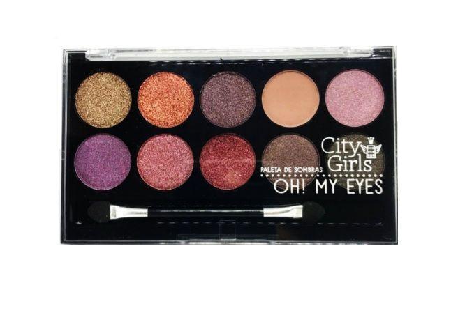 Paleta de sombras Oh My Eyes- City Girl -cor 1