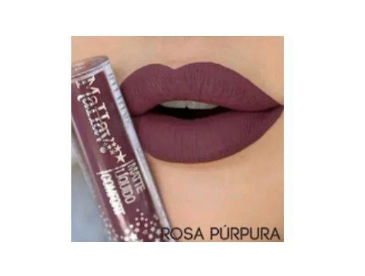 Batom Liquido Matte Confort -Mahav Cor Rosa Púrpura