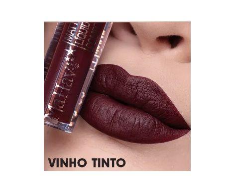 Batom Liquido Matte Confort -Mahav Cor Vinho Tinto
