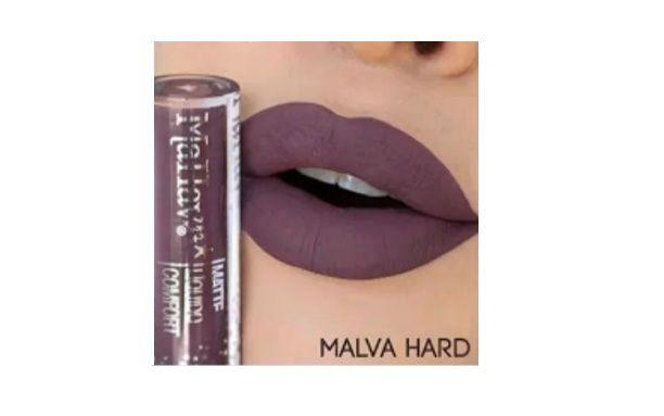 Batom Liquido Matte Confort -Mahav Cor Malva Hard