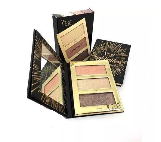 Kit Tango blush iluminador e Bronzer- Cor A