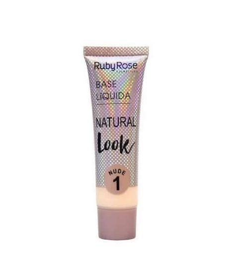 Base Liquida Natural Look Ruby Rose -Cor 1