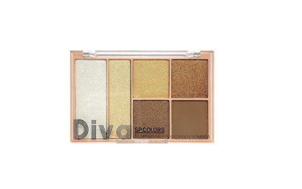 Paleta Diva Sombra Iluminador e Contorno Sp Colors Cor A