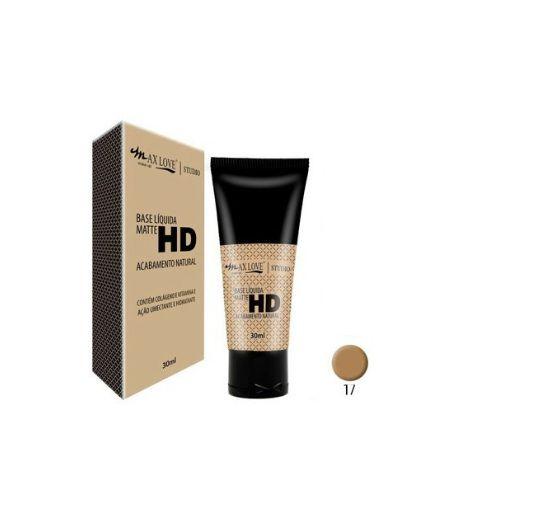 Base Liquida Matte HD Max Love Acabamento Natural Cor 17