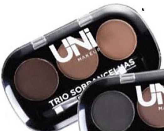 Trio de Sobrancelha UnI Makeup- cor B