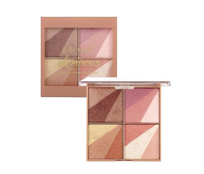 Paleta de Sombra Bronzer e Iluminador - Belle Angel T027