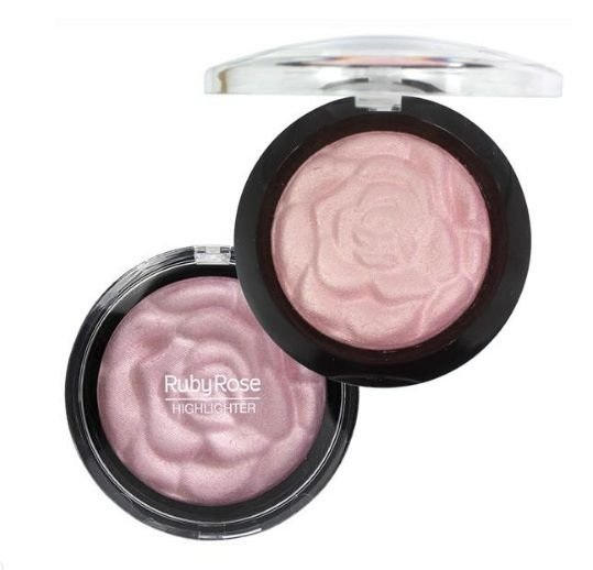 Baked Highlighter Powder Riby Rose- Cor 02