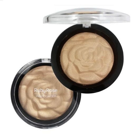 Baked Highlighter Powder Riby Rose- Cor 03