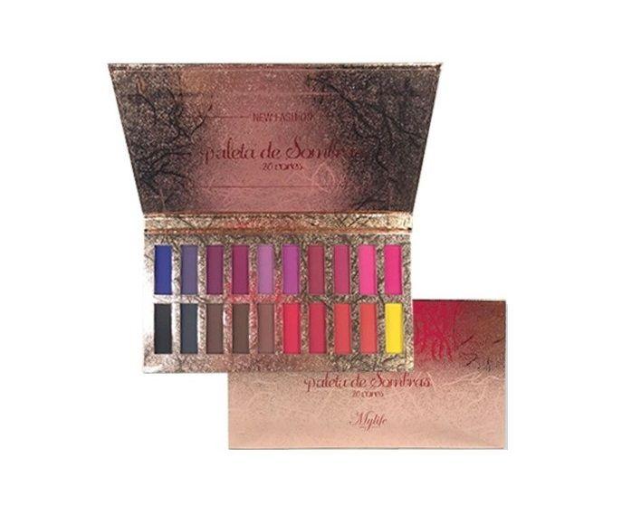 Paleta de Sombras 20 cores New Fashion My Life