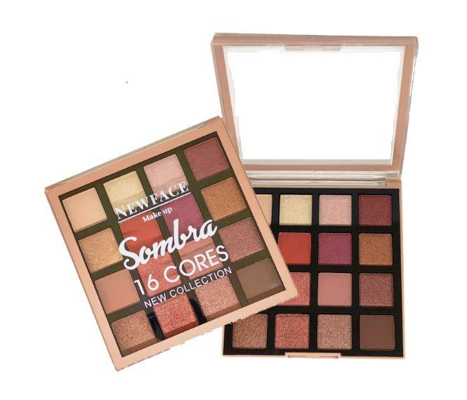 Paleta de Sombras 16 cores  New Collection New Face - Cor 02