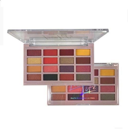 Paleta de sombras 16 cores Love Life -My Life Cor 1