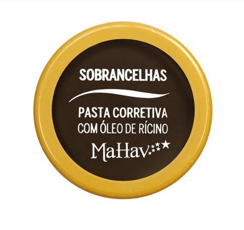 Pasta corretiva para Sobrancelhas com óleo de Rícino - Mahav Cor 1