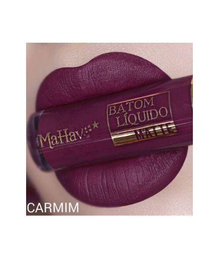 Batom Liquido Matte Mahav -Carmim