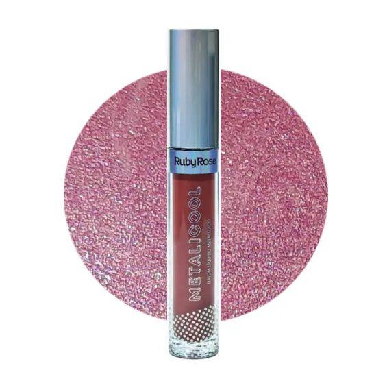Batom Líquido Metalicool -Ruby Rose HB 8219-202