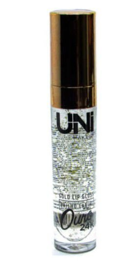 Gold lip Gloss  Ouro 24 k  Unimakeup Cor 1