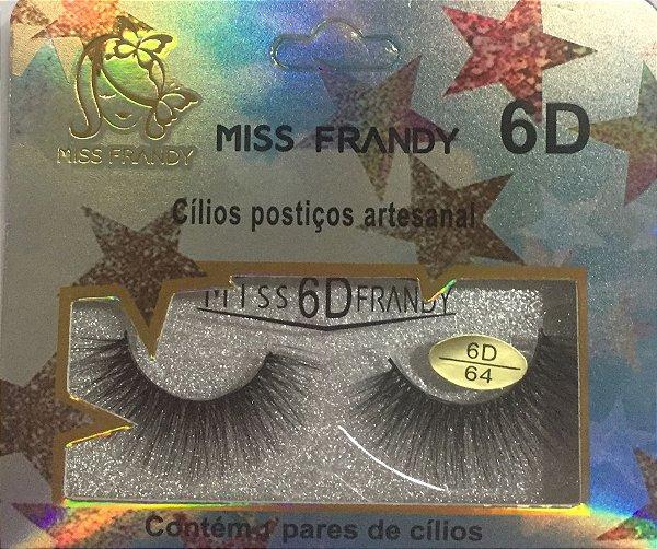 Cilios Postiços Artesanal 6D  Miss Frandy