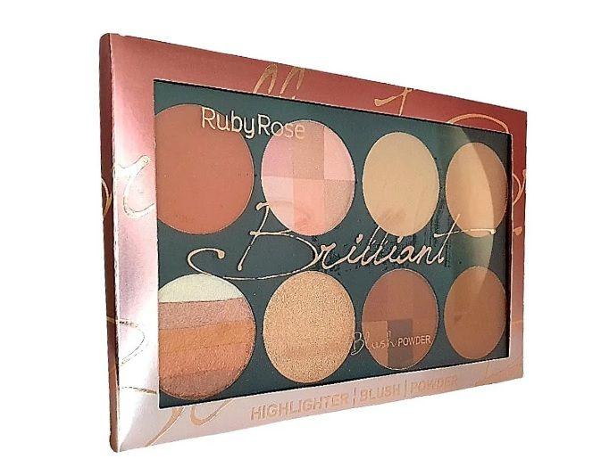 Kit Brilliant Highlighter Blush Powder -Ruby Rose