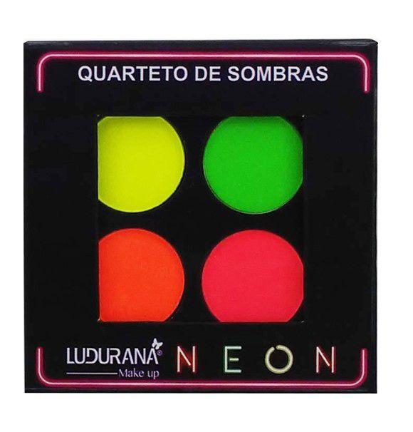 Quarteto de Sombras Matte Neon- Ludurana