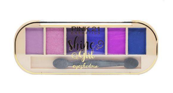 Paletas de Sombras Shine & Girl Cor 02 - Pink 21