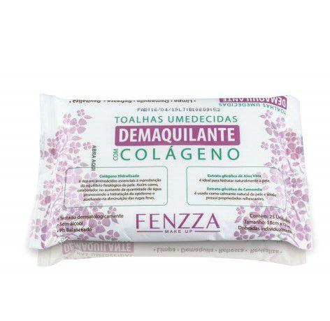 Toalhas Umedecidas para Limpeza Facial  com Colágeno - Fenzza
