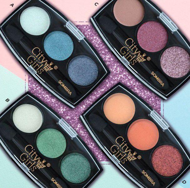 Paleta de Sombras 3 cores- City Girl Cor B