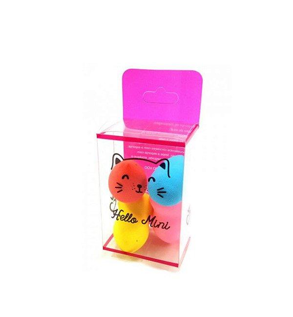 Kit com 3 Mini Esponjas Gota - Hello Mini