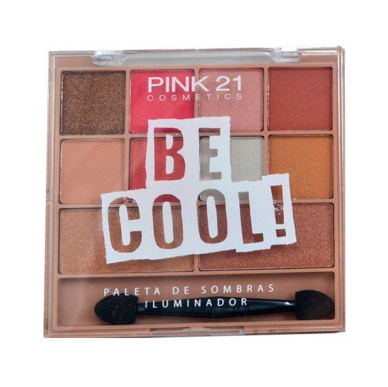 Paletas de Sombras e Iluminador Bee Cool - Pink 21 Cor 01