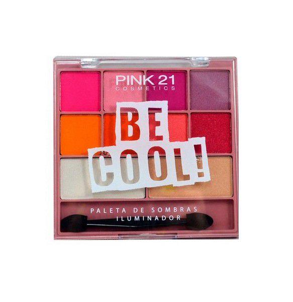 Paletas de Sombras e Iluminador Bee Cool - Pink 21 Cor 02