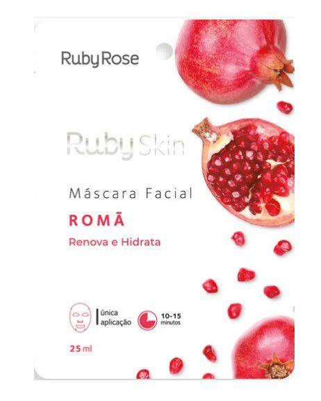 Máscara Facial de Tecido Româ  Skin - Ruby Rose Hb700