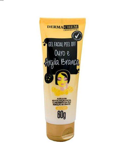 Gel Facial Peel off  Ouro e Argila Branca - Dermachem