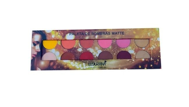 Paleta de  12 Sombras  Matte -Ludurana