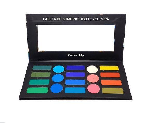 Paleta de Sombras 18 Cores  Europa -Ludurana