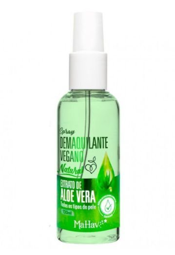 Spray Demaquilante Vegano Aloe Vera Mahav -120ml Dm2Mv