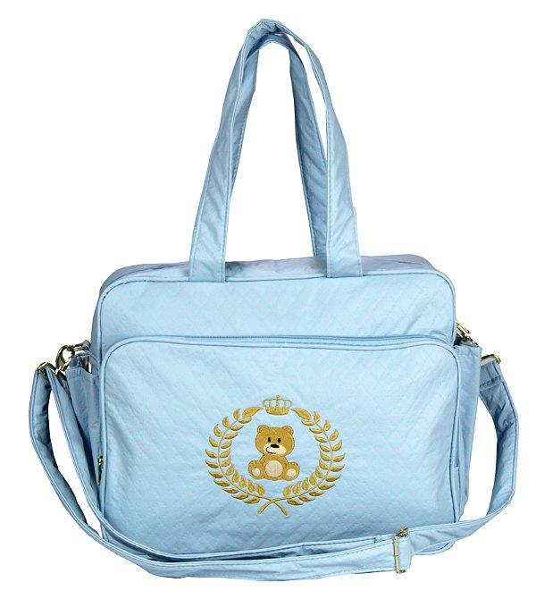 Bolsa Maternidade G Azul C. Ursinho Rafi