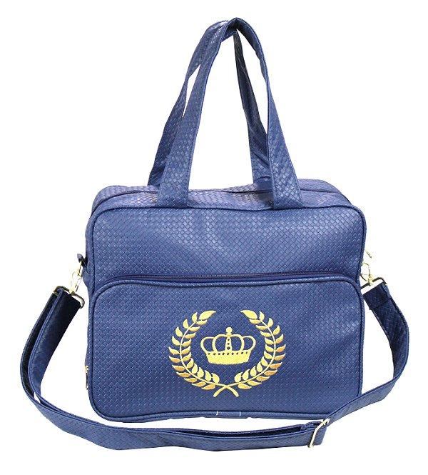 Bolsa Maternidade M Azul Coroa Rafi