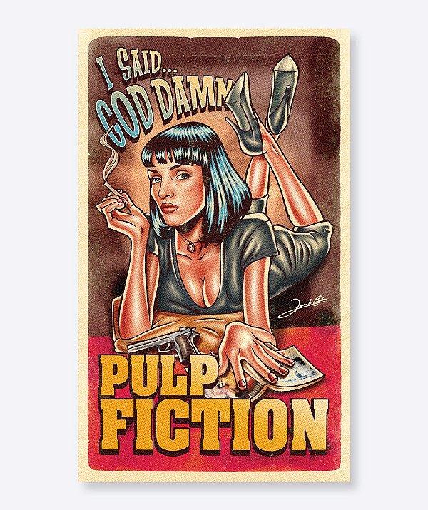 Poster I Said God Damn - Pulp Fiction