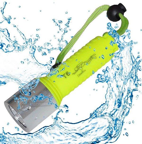 Lanterna de Mergulho 408.000 Lumens LED Cree Q5 à Prova D'água Com Alça de Braço Bateria Recarregável