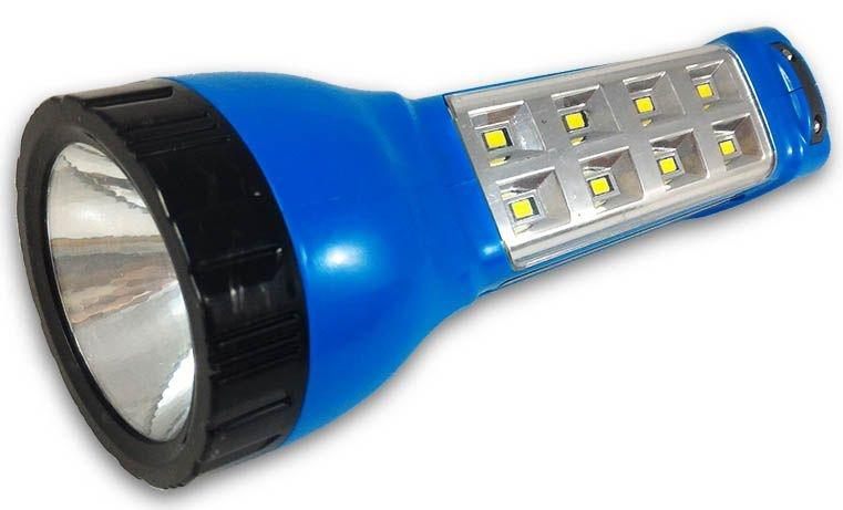 Lanterna Recarregável Com Lampião Luz de Emergência e Carregador Solar 1 Q3 Frontal + 8 Leds Laterais