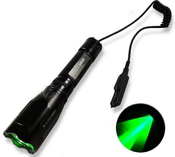 Lanterna Com LED Verde Green Para Caça Com Sistema de Acionamento Remoto Tática Q5